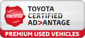 Toyota Certified Used Vehicle.